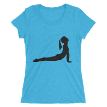 Women's Short Sleeve T-Shirt with Yoga Cobra Pose Design 1