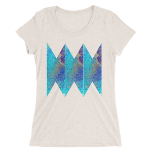 Blue Abstract Design T-shirt For Women 1