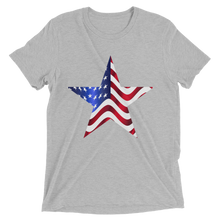 Short Sleeve T-Shirt with US Flag on Star Design 6