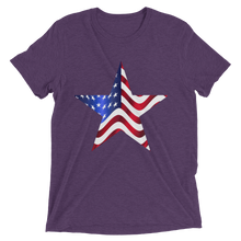 Short Sleeve T-Shirt with US Flag on Star Design 8