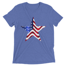 Short Sleeve T-Shirt with US Flag on Star Design 10