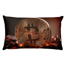 Comfortable Rectangular Pillow with Bitcoin Design