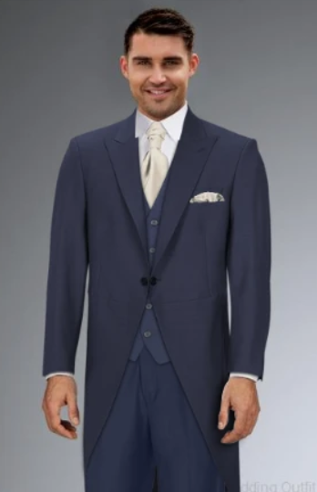 Cameron Ross - Blue Slim Fit Tailcoat