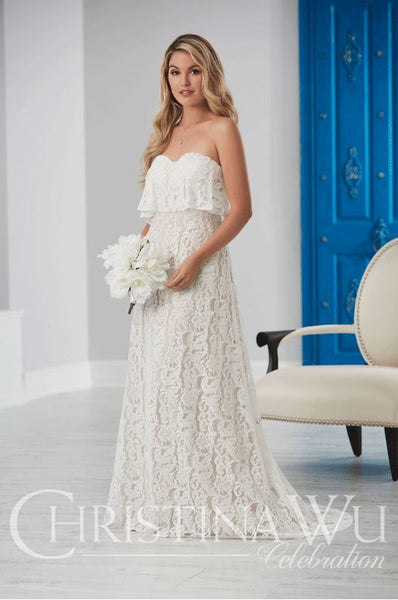 Christina Wu  lace gown 22860
