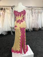 Lore - Gold and Hot Pink gown