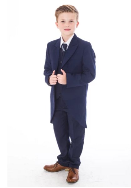 Page Boys - Navy Tailcoat, Age 1-7