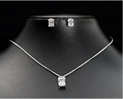 1528 - Square Necklace & Earring Set