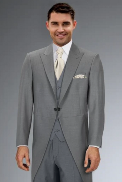 Cameron Ross - Grey Slim Fit Tailcoat