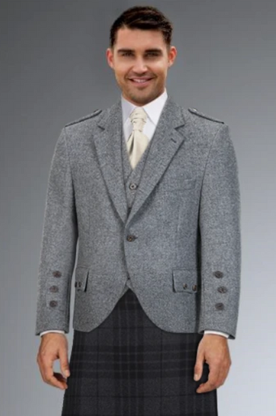 Cameron Ross - Light Grey Tweed Highland