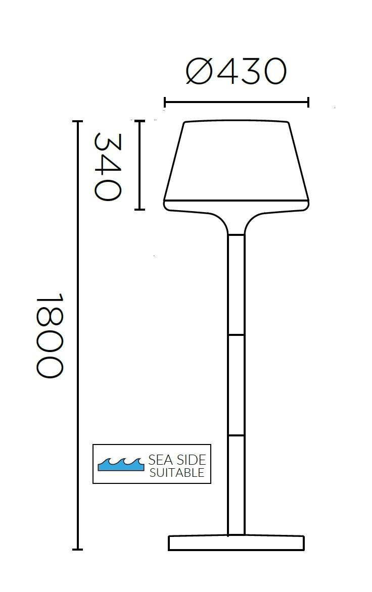 Lampadaire Moonlight Floor Lamp de LEDS C4 lumi-shop.ch