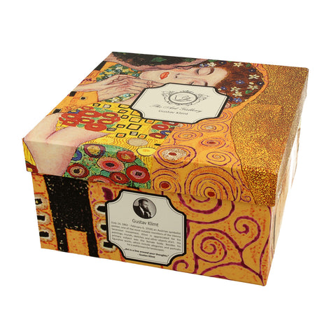 Porcelán csésze aljjal Klimt The Kiss 450ml