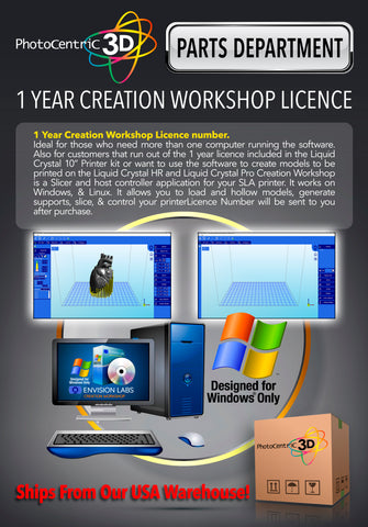 1 YEAR CREATION WORKSHOP LICENCE