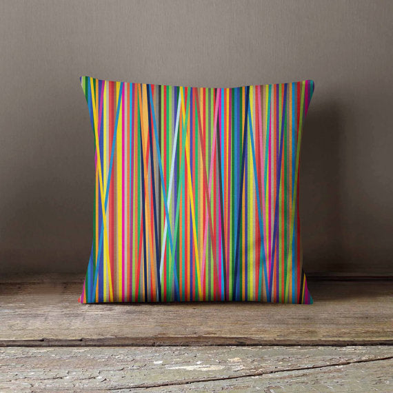 Colorful Lines Pattern Pillowcase | Decorative