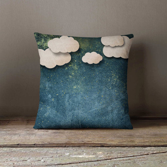 Night Paper Clouds Decorative Throw