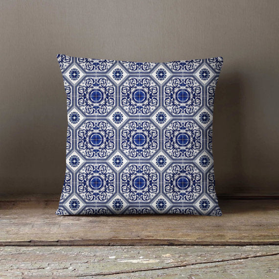 Moroccan Tiles Pillowcase Decorative Throw