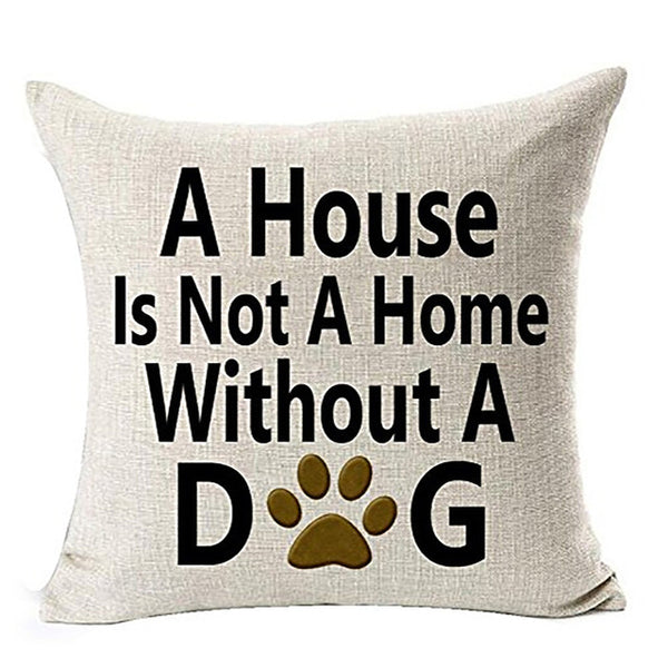 Best Dog Lover Gifts Cotton Linen Throw Pillow