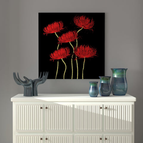 Gorgeous Fine Art Red Spring Floral