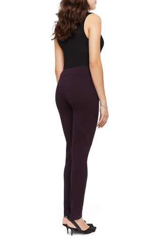 Tracey Knit Plum Skinny Slimming Pant