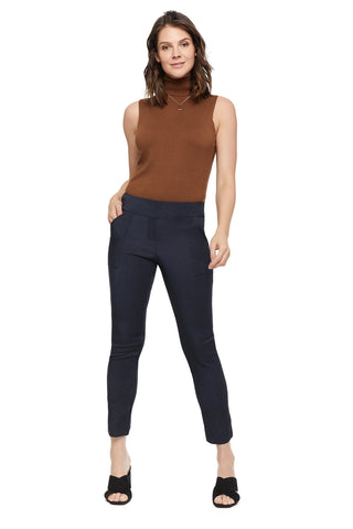 Erin Functional Patch Pocket Denim Slimming Pant