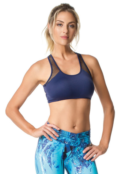 California Navy Blue Sports Bra