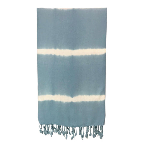 Sky Blue Tie Dye Turkish Towel