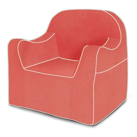 Reader Children's Chair - Coral with White Piping