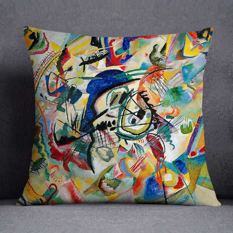 Kandinsky Art Painting Throw Pillow Cover Cushion