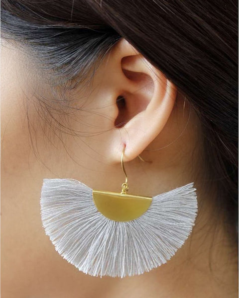 Half Moon Fan Earrings - Just Add Your Color!