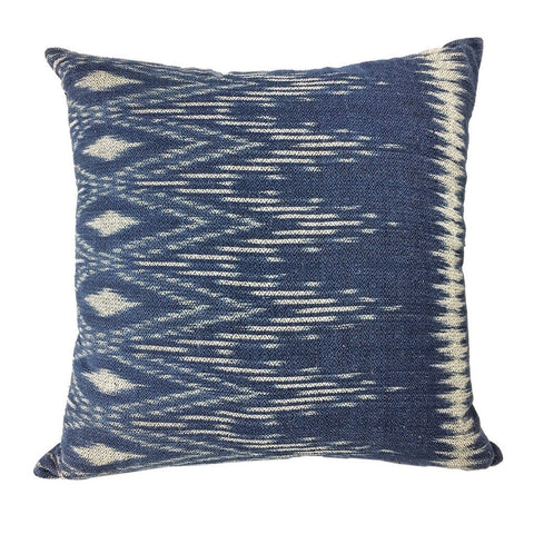 Hand-Dyed Indigo Ikat Pillow Cover