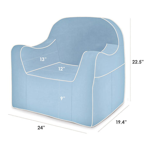 Reader Children's Chair - Light Blue with White