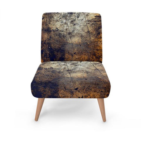 Dark Metallic Print Accent Occasional Chair