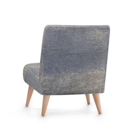 Hand-Stitched Grey Accent Occasional Chair