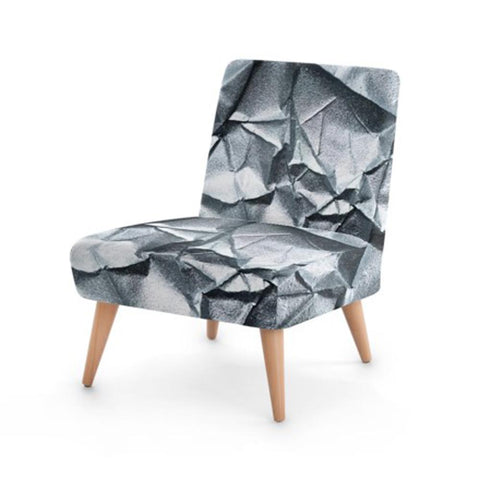 Metallic Cracked Print Accent Occasional Chair