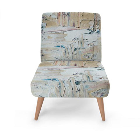 Nude Abstract Print Accent Occasional Chair