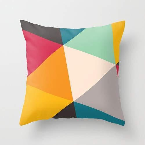 Tilting Triangles Pillow Cover