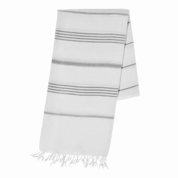 Versatile Classic Gray Stripe Turkish Towel