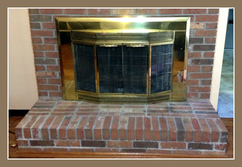 Before Photo of Hearth