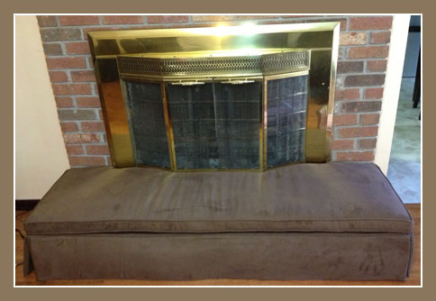 After Photo showing the HearthSoft Hearth Protection Cover