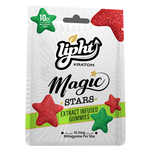 Lipht Kratom Magic Stars Extract Infused Gummies