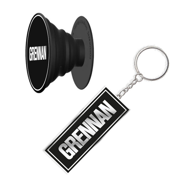 GRENNAN KEYRING + POP SOCKET