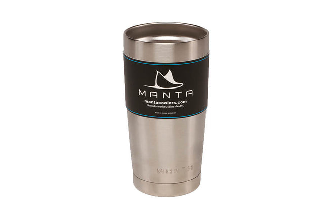 20 Ounce Stainless Steel Cups (Various Colors) - mantacoolers.com