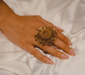 The Floral Jaali Ring
