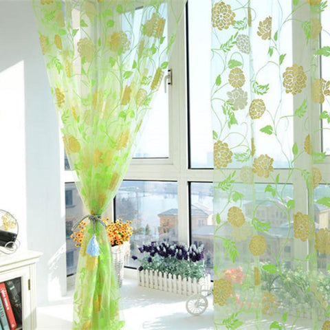 Super Deal Hot Sales!Warm Printing Curtain Floral Screens Bedroom Home Curtain 200X100cm XT