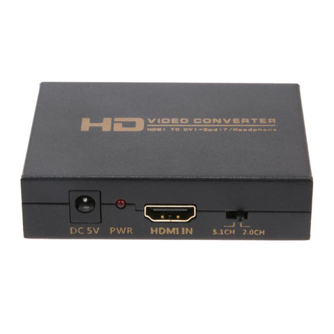 High Definition HDMI to DVI HD HDMI to DIsplayPort Optical Fiber to HDMI Converter Hub US/EU Plug for TV Projector Monitor