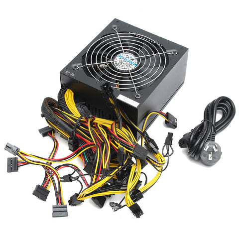 High Quality Miner Power Supply with Cable ATX PC 24 Pin for GPU Card Bitmain Antminer Mining Miner Power Supply Machine 1300W