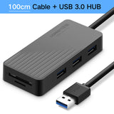 Ugreen All in 1 USB HUB with TF SD Card Reader High Speed Usb 3.0 2.0 Hub 3 Port Micro USB Power Interface for Laptop USB Hubs