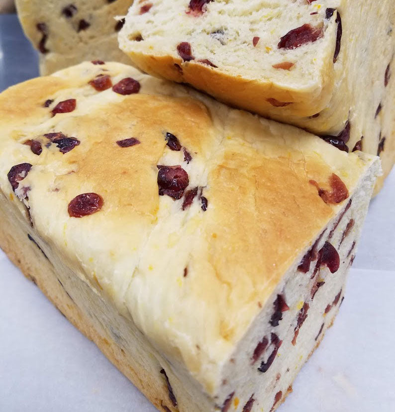 Cranberry-Orange Pain de Mie (Half)