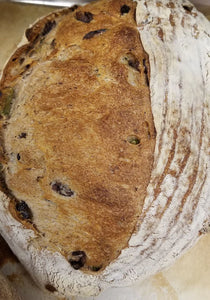 Herbed Olive Sourdough Batârd