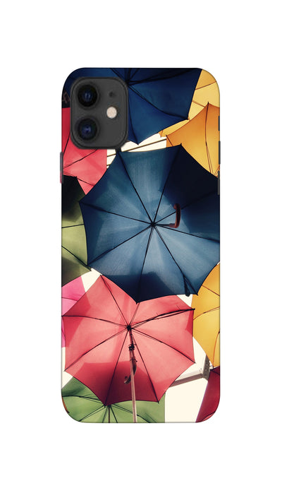 Colourful Umbrella Hard Case Cover For Apple iPhone 11