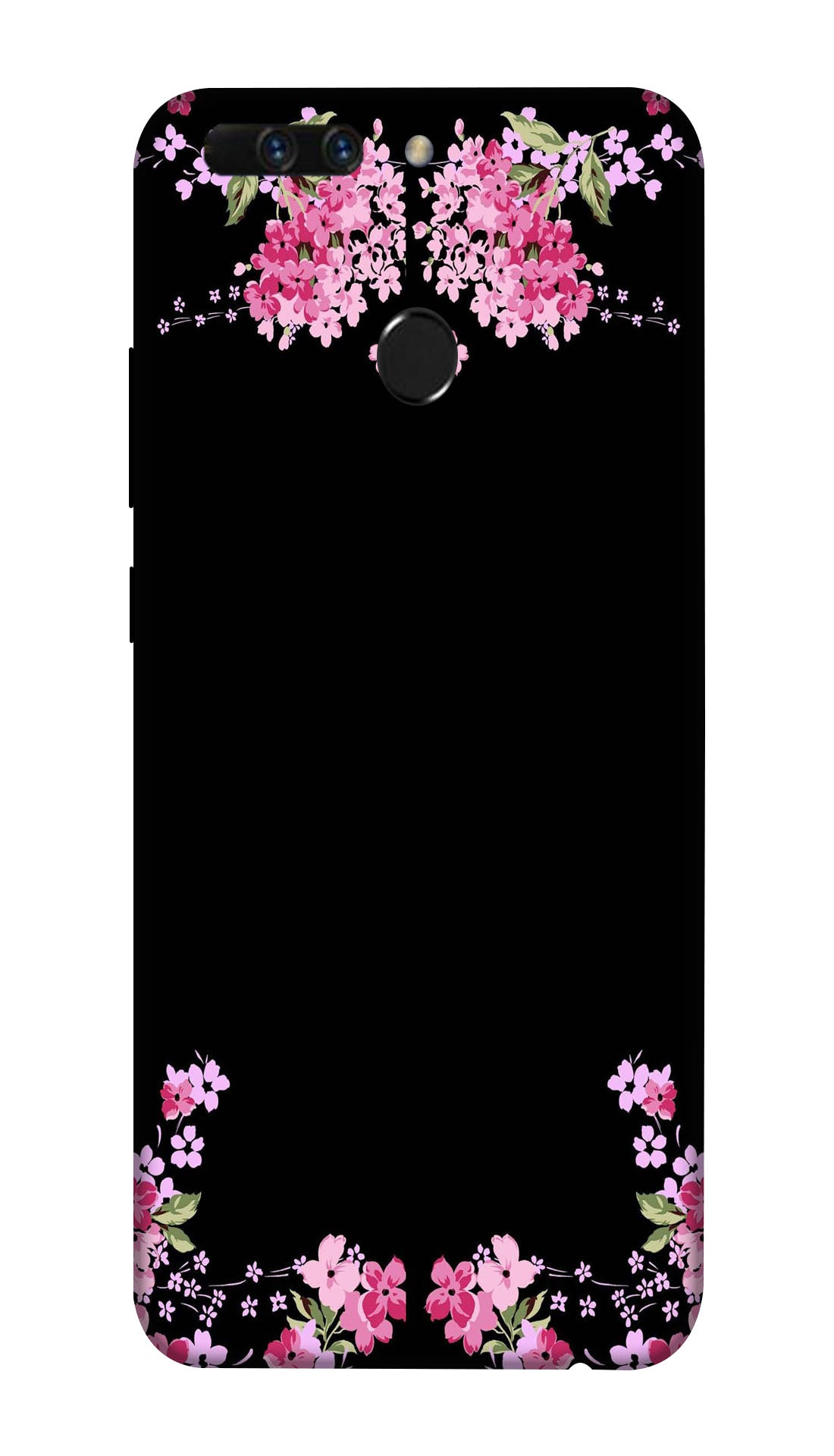 Printed pink flowers Hard Case For Honor 8 Pro